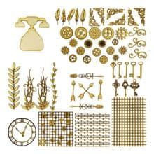 Telephone Steampunk Kit Laser Cut 3mm MDF Industrial Art Picture Card Craft
